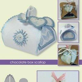 Crealies und CraftEmotions Ponsen sjabloon: Box