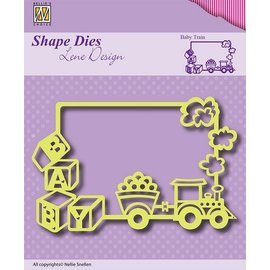 Nellie Snellen Stanzschablone: Frame Baby Train - only few on stock!
