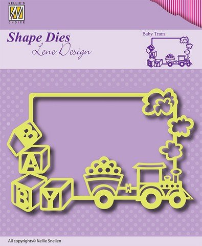 Nellie Snellen Stamping template: frame baby train
