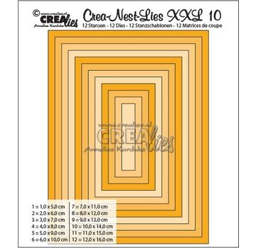 Crealies und CraftEmotions Punching template: XXL rectangular basic