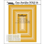 Crealies und CraftEmotions Punching template: XXL wavy rectangles
