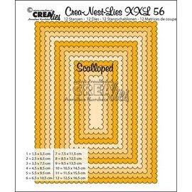 Crealies und CraftEmotions Stansning skabelon: XXL bølgede rektangler