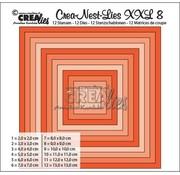 Crealies und CraftEmotions Stanzschablone: XXL Quadrate