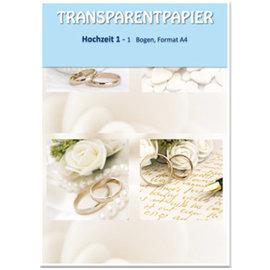 Karten und Scrapbooking Papier, Papier blöcke 1 vel transparant papier, gedrukt, bruiloft