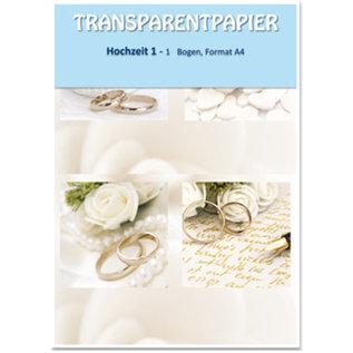 Karten und Scrapbooking Papier, Papier blöcke 1 foglio carte trasparenti, stampati, matrimonio