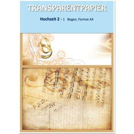 Karten und Scrapbooking Papier, Papier blöcke 1 ark gennemsigtige papirer, trykt, bryllup