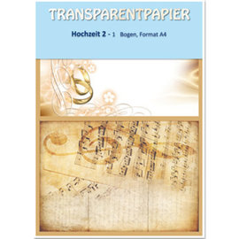 Karten und Scrapbooking Papier, Papier blöcke 1 sheet transparent papers, printed, wedding