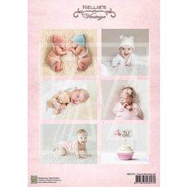 Bilder, 3D Bilder und ausgestanzte Teile usw... Bilderbogen, Vintage Baby