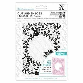 Docrafts / X-Cut Découpe et gaufrage pochoir, Flowery Fairies