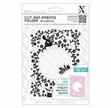 Docrafts / X-Cut Skæring og prægning stencil, Flowery Fairies