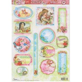"""Bilder, 3D Bilder und ausgestanzte Teile usw... Die cut sheets: PaperArt, """"spring"""" with different motives"""