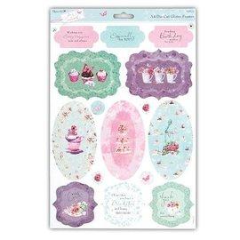 Bilder, 3D Bilder und ausgestanzte Teile usw... A4 glitter Die cut sheets with pretty motifs