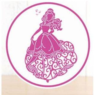 DISNEY Cutting dies SET: Disney Princess + stamp Waltzing Belle Face