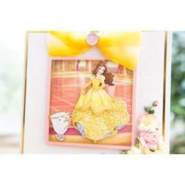 DISNEY Stanzschablonen SET: Disney + Stempel Princess Waltzing Belle Gesicht