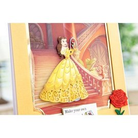 DISNEY Troqueles de corte SET: Disney Enchanted + Sello Belle Face