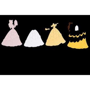 DISNEY SONDERAKTION! Stanzschablonen SET: Disney + Stempel Enchanted Belle Gesicht