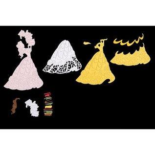 DISNEY Stanzschablonen SET: Disney + Stempel Princess Fairy Gesicht