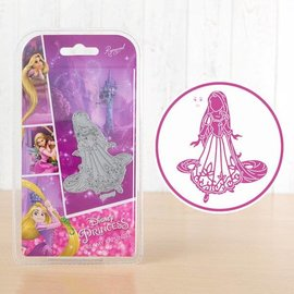 DISNEY Troqueles de corte SET: Disney + sello soñadora Rapunzel facial