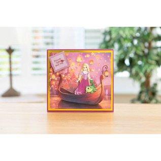 DISNEY Stanzschablonen SET: Disney + Stempel Dreamy Rapunzel Gesicht