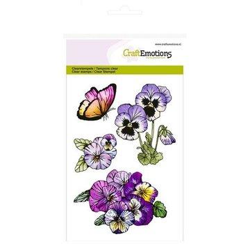 Crealies und CraftEmotions stamp Transparent: A6, Violettes, doux Violettes