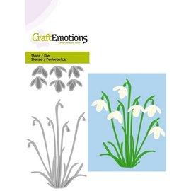 Crealies und CraftEmotions La perforación de la plantilla: campanillas de invierno