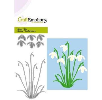 Crealies und CraftEmotions Punzonatura modello: bucaneve