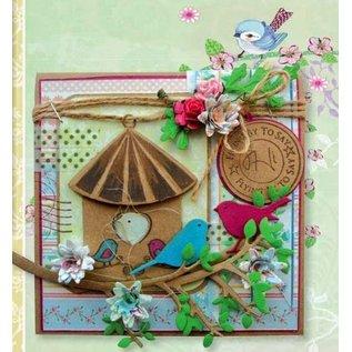 Marianne Design Couper et gaufrer pochoir + timbre, maison d'oiseau: oiseau