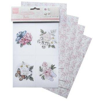 Marianne Design 4 ark A5, parfumeret roser papir!