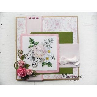 Marianne Design 4 vellen A5, geparfumeerde rozen papier!