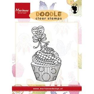 Stempel / Stamp: Transparent Transparant stempel: Doodle Cupcake