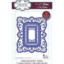 CREATIVE EXPRESSIONS und COUTURE CREATIONS plantilla de perforación: marco decorativo
