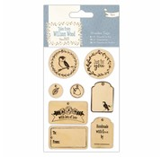 Embellishments / Verzierungen Wood Signs (8pcs), Tales from Willson Wood