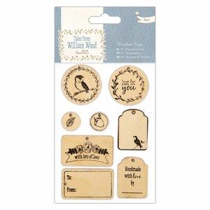 Embellishments / Verzierungen Wood Signs (8pcs), Tales from Willson Wood