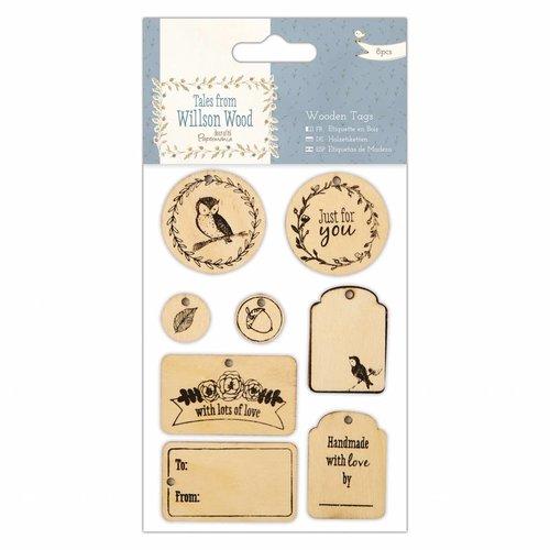 Embellishments / Verzierungen Træskilte (8pcs), Fortællinger fra Willson Wood