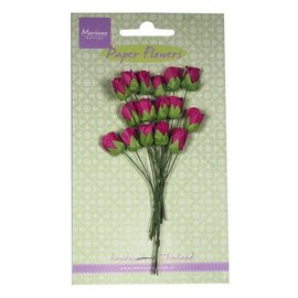 BLUMEN (MINI) UND ACCESOIRES Rose knopper, Medium Pink