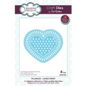 CREATIVE EXPRESSIONS und COUTURE CREATIONS cutting and embossing die: lace heart