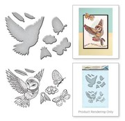Spellbinders und Rayher Punching and embossing template + stamp motifs: owl and insects - only 1 in stock