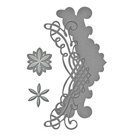 Spellbinders und Rayher Cutting meurt: filigranes frontière + Fleurs
