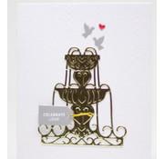 Spellbinders und Rayher Spellbinders, stamping and embossing stencil, metal stencil enyoj water fountain