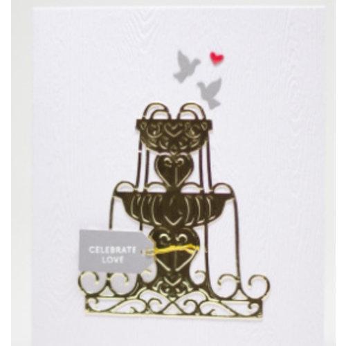 Spellbinders und Rayher Spellbinders, stempelen en embossing stencil, metal stencil enyoj waterfontein