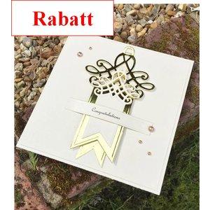 Spellbinders und Rayher Ponsen en embossing sjabloon: Shapeabilities, Swallowtail Tags