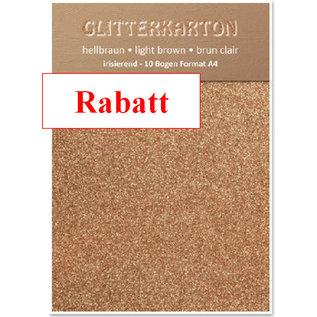 Karten und Scrapbooking Papier, Papier blöcke Glitter karton, 10 vellen 280g / m², A4, lichtbruin