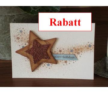 Karten und Scrapbooking Papier, Papier blöcke Glitterkarton,10 Bogen 280g/qm, Format A4, hellbraun