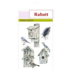 Craftemotions Timbri trasparenti, A6 - Case dell'uccello Botanico estivi