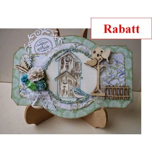 Crealies und CraftEmotions Clear stamps, A6 - Bird houses Botanical Summer