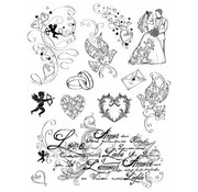 VIVA DEKOR (MY PAPERWORLD) I timbri trasparenti, tema: amore, matrimonio