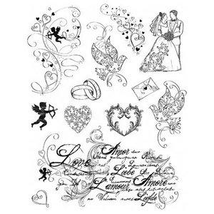 VIVA DEKOR (MY PAPERWORLD) Transparent stamps, theme: love, wedding