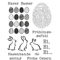 Transparent stamps Happy Easter