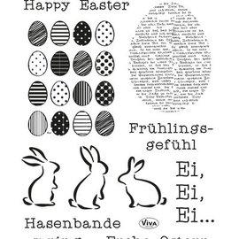 VIVA DEKOR (MY PAPERWORLD) Transparent stamps Happy Easter