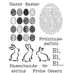 VIVA DEKOR (MY PAPERWORLD) Transparante stempels Happy Easter